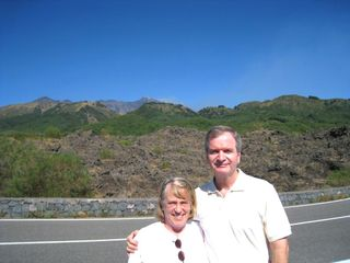 Mike and Nancy - East Slope of Mt. Etna